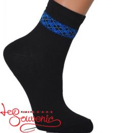 Children's Socks with Blue Embroidery DSH-1004