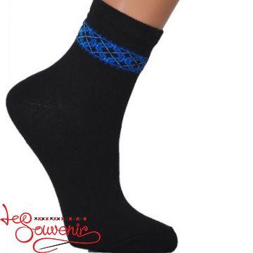 Детские носки с синей вышивкой DSH-1004