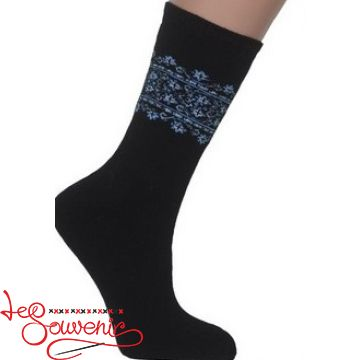Women's Socks with Blue Embroidery ZSH-1001