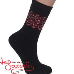 Women's Socks with Red Embroidery ZSH-1002