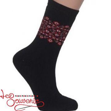 Женские носки с красной вышивкой ZSH-1002