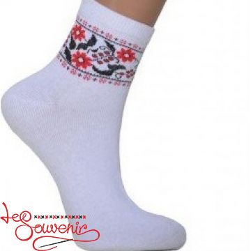 Women's Socks with Red Embroidery ZSH-1003