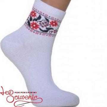 Жіночі шкарпетки з червоною вишивкою ZSH-1003