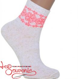 Women's Socks with Red Embroidery ZSH-1004