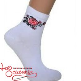 Women's Socks with Red Embroidery ZSH-1005