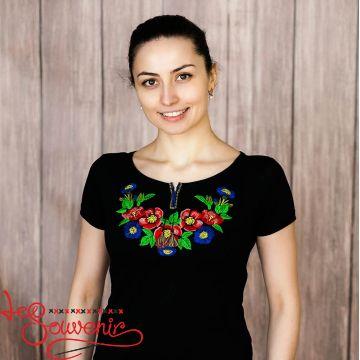 T-shirt Bouquet of Cornflowers ZVF-1042