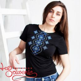 T-shirt Blue Ornament Wave ZVF-1052