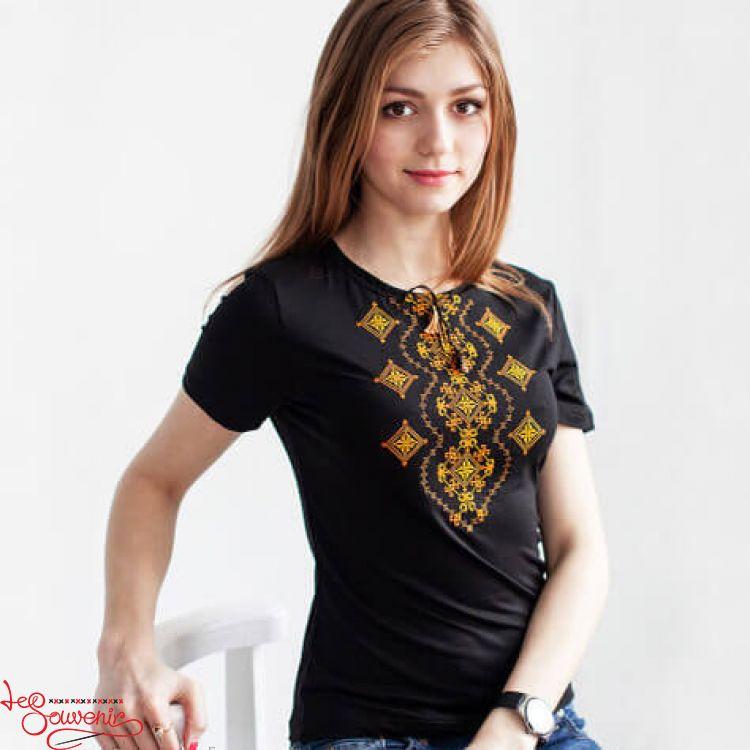 T-shirt Orange Ornament Wave ZVF-1053 6cc2b15b36e87