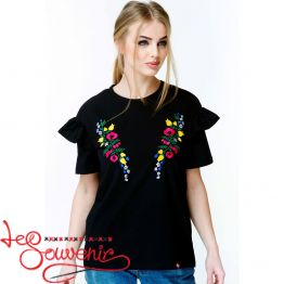 Embroidered t-shirt Flower Paradise ZVF-1069