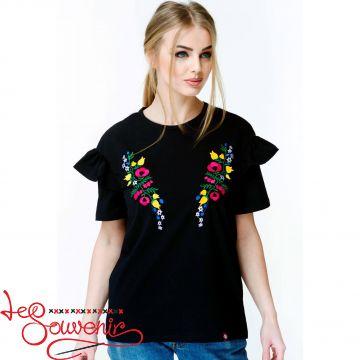 Вишита футболка Квітковий рай ZVF-1069