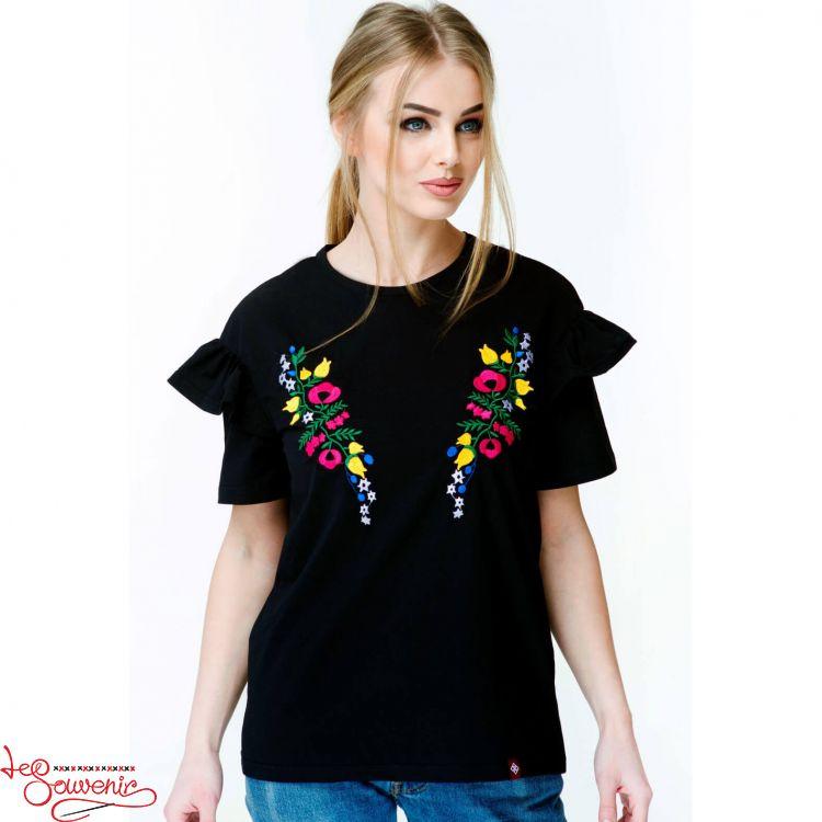 Вишита футболка Квітковий рай ZVF-1069 1771f1f8bf4b3