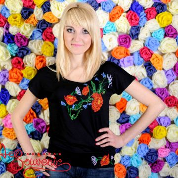 T-shirt Patent Poppy ZVF-1071