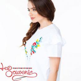 Вишита футболка Квітковий рай ZVF-1173