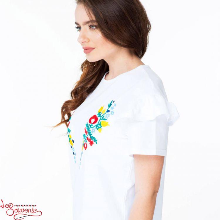 Вишита футболка Квітковий рай ZVF-1173 22c6798183c3c