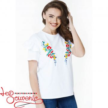 Embroidered t-shirt Flower Paradise ZVF-1173