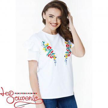 Вышитая футболка Цветочный рай ZVF-1173