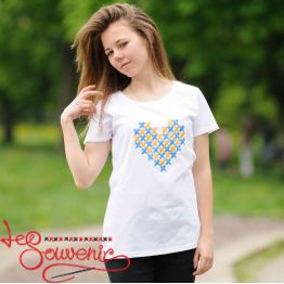 T-Shirt Embroidered Heart PFD-1027