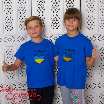 Футболка Серце синьо-жовте PFC-1002