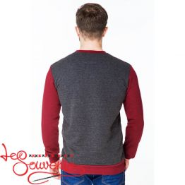 Gray and Burgundy Sweater PSV-1008