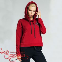 Burgundy Sweater with a hood PSV-1022