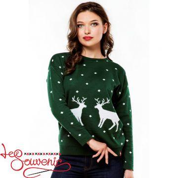 Вязаный свитер з оленями PSV-1034