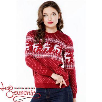 Вязаный свитер з оленями PSV-1036