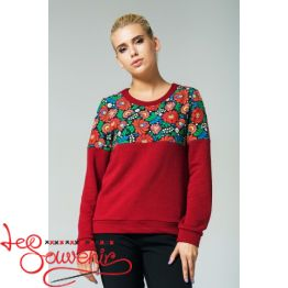 Sweater with Floral Ornament PSV-1045