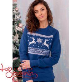 Світшот Різдвяний синій PSV-1052