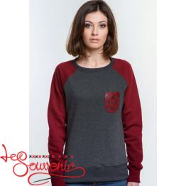 Sweater with Red Embroidery PSV-1057