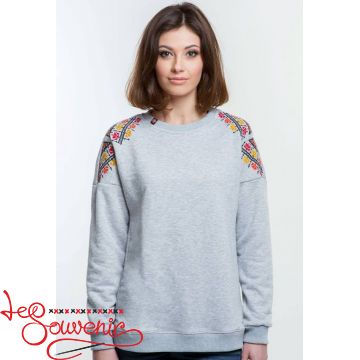 Sweater with Colored Embroidery PSV-1058