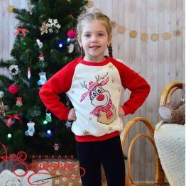 Sweater New year deer PSD-1014