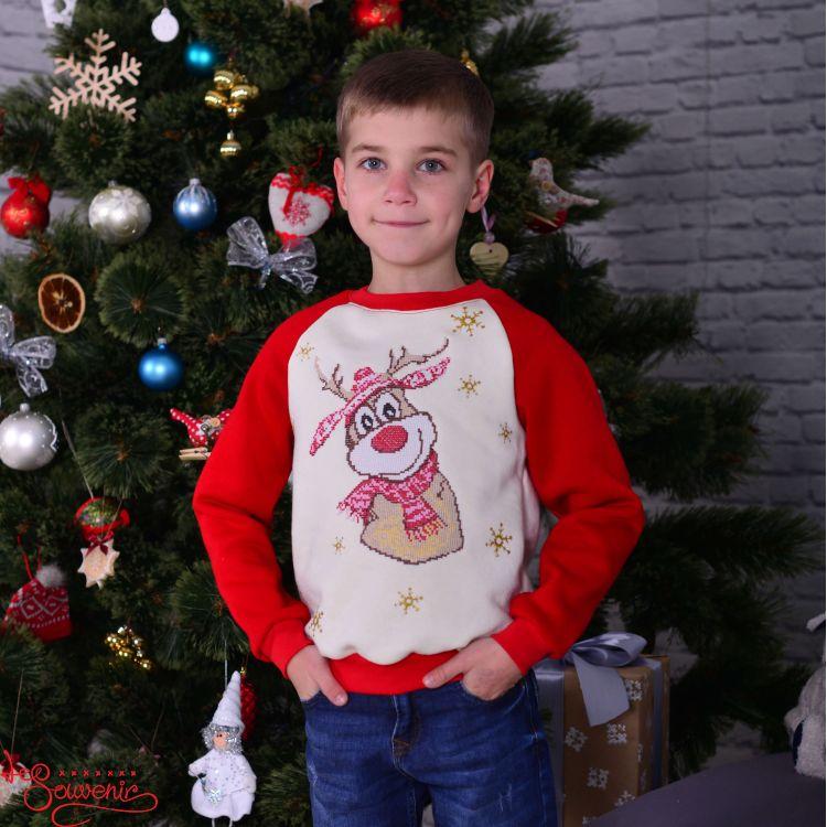 Світшот Новорічний олень PSD-1014 58a2f674967d3
