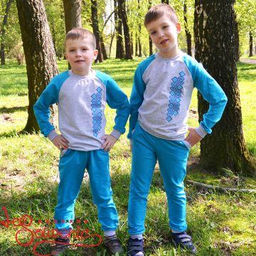 Детский спортивный костюм голубой PSK-1006