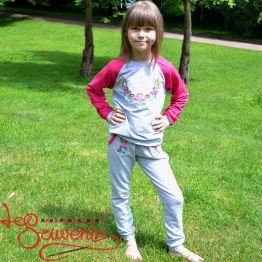 Дитячий спортивний костюм рожевий PSK-1007