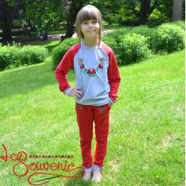 Children's Red Sport Suit PSK-1008
