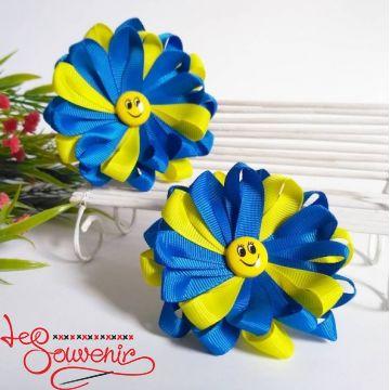 Резинка для волосся синьо-жовта PGB-1019