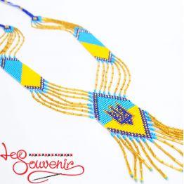 Гердан синьо-жовтий з тризубом PG-1022
