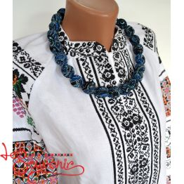 Wooden Necklace in a Scarf PN-1041