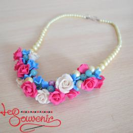 Necklaces with Bright Roses PN-1054