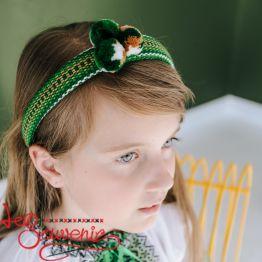 Green Woven Hoop PO-1016