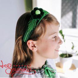 Green Woven Hoop PO-1017