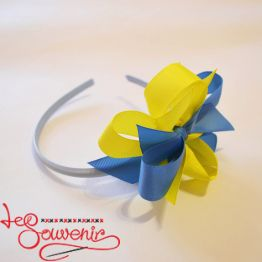 Hoop Blue and Yellow Bow PO-1055