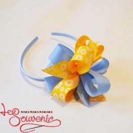 Hoop Blue and Yellow Bow PO-1056