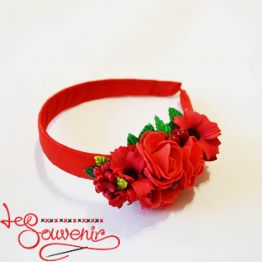 Hoop Red Flowers PO-1060