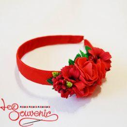 Обруч Квіти червоні PO-1060