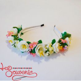 White and Pink Hoop PO-1063