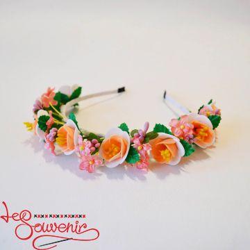 Ободок красочно-персиковый PO-1064