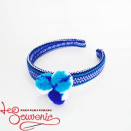 Blue Woven Hoop PO-1074
