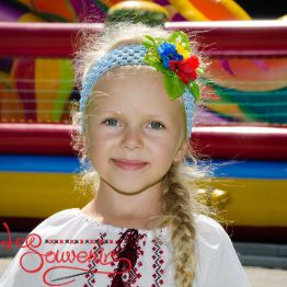 Blue Headband on the Hair PNG-1003
