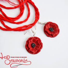 Earrings Poppies PS-1008